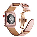 voordelige Apple Watch-bandjes-Horlogeband voor Apple Watch Series 4/3/2/1 Apple Butterfly Buckle Echt leer Polsband