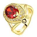 ieftine Inele-Pentru femei Roșu Roșu-aprins Clasic Inel 18K Aur Picătură femei Modă Inele la Modă Bijuterii Auriu / Roz auriu Pentru Petrecere Zilnic 7 / 8