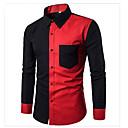 abordables Emballage & Présentation de Bijoux-Chemise Homme, Couleur Pleine / Bloc de Couleur - Coton Actif / Basique / Manches Longues