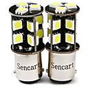 رخيصةأون مصابيح الدراجات النارية-SENCART 2pcs T20 (7440،7443) / BA15S (1156) / BAY15D (1157) دراجة نارية / سيارة لمبات الضوء 4 W SMD 5050 380 lm 19 LED ضوء إشارة اللف / ضوء العمل / دراجة نارية من أجل