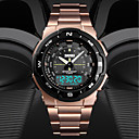 cheap Car Tail Lights-SKMEI Men's Sport Watch Digital Watch Digital Stainless Steel Black / Silver / Gold 50 m Water Resistant / Waterproof Calendar / date / day Dual Time Zones Analog - Digital Casual Fashion - Silver