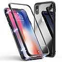 cheap iPhone Cases-Cooho Case For Apple iPhone X / iPhone 7 Plus Shockproof / Dustproof / Transparent Back Cover Solid Colored Hard Tempered Glass / PC for iPhone X / iPhone 8 Plus / iPhone 8
