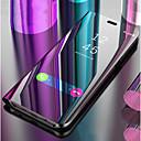 رخيصةأون حافظات / جرابات هواتف جالكسي S-غطاء من أجل Samsung Galaxy S9 / S8 مع حامل / مرآة / قلب غطاء كامل للجسم لون سادة قاسي جلد PU إلى S9 / S9 Plus / S8 Plus
