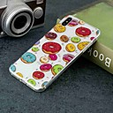 abordables Coques d'iPhone-Coque Pour Apple iPhone XR / iPhone XS Max Transparente / Motif Coque Nourriture Flexible TPU pour iPhone XS / iPhone XR / iPhone XS Max