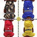 voordelige Hondenkleding & -accessoires-Honden / Katten / Huisdieren Regenjas / Versiering Hondenkleding Effen / Camouflage Kleur Rood / Blauw / camouflage kleur Acryl Vezels