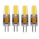 رخيصةأون مصابيح ليد ثنائية-SENCART 4PCS 4 W أضواء LED Bi Pin 350 lm G4 T 1 الخرز LED COB ديكور أبيض دافئ أبيض 12 V