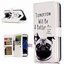 baratos Capinhas para Galaxy Série S-Capinha Para Samsung Galaxy S9 Plus / S8 Carteira / Porta-Cartão / Com Suporte Capa Proteção Completa Cachorro Rígida PU Leather para S9 / S9 Plus / S8 Plus