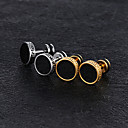 cheap Earrings-Men's Vintage Style Stud Earrings - Titanium Steel, Platinum Plated, Rose Gold Plated Vintage, Trendy Gold / Silver For Street