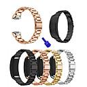 tanie Opaski do zegarka Samsung-Watch Band na Gear Fit 2 Samsung Galaxy Pasek sportowy Stal nierdzewna Opaska na nadgarstek