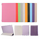 cheap iPad  Cases / Covers-Case For Apple iPad (2018) / iPad 4/3/2 with Stand / Flip / Origami Full Body Cases Solid Colored / Flower Hard PU Leather for iPad Air / iPad 4/3/2 / iPad Mini 3/2/1 / iPad Pro 10.5 / iPad (2017)