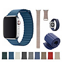abordables Bracelets Apple Watch-Bracelet de Montre  pour Apple Watch Series 4/3/2/1 Apple Bracelet Sport Vrai Cuir Sangle de Poignet