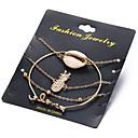 abordables Bracelets-Femme Effets superposés Chaînes & Bracelets - Ananas Romantique Bracelet Or Pour Cadeau Festival / 4pcs