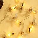 cheap LED String Lights-2m String Lights 10 LEDs Warm White Decorative AA Batteries Powered 1 set