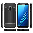 hesapli Cep Telefonu Süsleri-Pouzdro Uyumluluk Samsung Galaxy A8 2018 / A6 (2018) Şoka Dayanıklı Arka Kapak Solid Yumuşak TPU için A6 (2018) / A6+ (2018) / A7(2018)