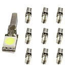 cheap Car Interior Lights-10pcs T5 Motorcycle / Car Light Bulbs 1 W SMD 5050 30 lm 2 LED Interior Lights For universal Universal Universal