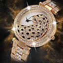 ieftine Brățări-Pentru femei Ceas de Mână Diamond Watch ceas de aur Japoneză Quartz Japonez Oțel inoxidabil Argint / Auriu 30 m Creative Model nou Cool Analog femei Lux Modă Bling bling - Auriu Argintiu Aur / argint