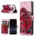 Недорогие Чехлы и кейсы для Galaxy Note 4-Кейс для Назначение SSamsung Galaxy Note 9 / Note 8 Кошелек / Бумажник для карт / со стендом Чехол Животное Твердый Кожа PU