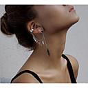 billige Mode Halskæde-Dame Øreklips - Bladformet Damer Stilfuld Europæisk Smykker Sølv Til Fest / aften Gade 1pc