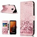 رخيصةأون حافظات / جرابات هواتف جالكسي A-غطاء من أجل Samsung Galaxy A3 (2017) / A5 (2017) / A8 2018 محفظة / حامل البطاقات / مع حامل غطاء كامل للجسم حجر كريم قاسي جلد PU