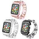 رخيصةأون أساور ساعات هواتف أبل-قذيفة معدنية حزام حزام إلى Apple Watch Series 4/3/2/1 أسود / الأبيض / الوردي 23CM / 9 بوصة 2.1cm / 0.83 Inches