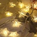 tanie Taśmy świetlne LED-3 M Łańcuchy świetlne 30 Diody LED Ciepła biel Dekoracyjna Zasilanie bateriami AA 1 zestaw