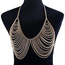 hesapli Vücut Takıları-Örgülü Vücut Zinciri / Belly Chain Bayan, abartma Kadın's Altın Vücut Mücevheri Uyumluluk Kulüp