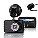 cheap iPad  Cases / Covers-Double Lens Dash Cam Camera DVR Car for Drivers Full HD 1080 P Recorder Camera with Night Vision G-Sensor