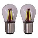 Χαμηλού Κόστους Λαμπτήρες LED με νήμα πυράκτωσης-2pcs BA15S(1156) Αυτοκίνητο Λάμπες 4 W COB 4 LED Φως Φλας Για Universal Universal Παγκόσμιο