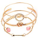 preiswerte Armbänder-Damen Mehrschichtig Manschetten-Armbänder - Romantisch Armbänder Gold / Silber Für Geschenk Festival / 4pcs