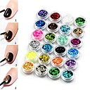 cheap Makeup & Nail Care-24 pcs Best Quality Eco-friendly Material Sequins For Creative nail art Manicure Pedicure Daily Fashion