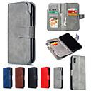 preiswerte Galaxy S Serie Hüllen / Cover-Hülle Für Apple iPhone XR / iPhone XS Max Geldbeutel / mit Halterung Ganzkörper-Gehäuse Solide Hart PU-Leder für iPhone XS / iPhone XR / iPhone XS Max