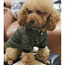 hesapli Köpek Giyim ve Aksesuarları-Köpekler / Kediler Paltolar Köpek Giyimi Solid Gri / Yeşil Pamuk Kostüm Evcil hayvanlar için Unisex Sıcak Tutma / Moda