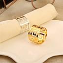 ieftine Șervețele & Inele de Șervețele-Contemporan Casual Oțel inoxidabil Rotund Inel de șervețele Cu model Decoratiuni de tabla 1 pcs