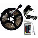 cheap Daytime Running Lights-SENCART 5m Light Sets 300/150 LEDs SMD5050 1 24Keys Remote Controller / 1 x 2A power adapter RGB Cuttable / Decorative / Linkable 100-240 V 1 set