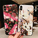 abordables Coques d'iPhone-Coque Pour Apple iPhone XR / iPhone XS Max Dépoli / Relief / Motif Coque Fleur Flexible TPU pour iPhone XS / iPhone XR / iPhone XS Max
