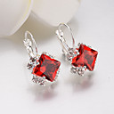cheap Necklaces-Women's Crystal Stud Earrings Lever Back Earrings Classic Simple Trendy Fashion Elegant bridesmaid Rhinestone Earrings Jewelry Red / Pink / Royal Blue For Party / Evening Date 1 Pair