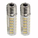billige LED-kolbepærer-2pcs 4.5 W 450 lm E17 LED-kolbepærer T 76 LED Perler SMD 2835 Dæmpbar Varm hvid / Kold hvid 220 V
