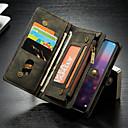 Недорогие Беспроводные зарядные устройства-CaseMe Кейс для Назначение Huawei MediaPad P20 lite Кошелек / Бумажник для карт / со стендом Чехол Однотонный Твердый Кожа PU для Huawei P20 lite