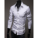 저렴한 낚시 릴-남성용 솔리드 플러스 사이즈 셔츠 면 / 긴 소매