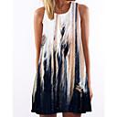 رخيصةأون ألعاب الطاولة-فستان نسائي كلاسيكي عصري طول الركبة ورد تاي داي شاطئ