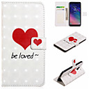 cheap Galaxy A Series Cases / Covers-Case For Samsung Galaxy A8 2018 / A7(2018) Wallet / Card Holder / with Stand Full Body Cases Heart Hard PU Leather for A6 (2018) / A6+ (2018) / A7(2018)