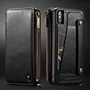 levne iPhone pouzdra-CaseMe Carcasă Pro Apple iPhone XS Max Pouzdro na karty / Nárazuvzdorné / se stojánkem Celý kryt Jednobarevné Pevné PU kůže pro iPhone XS Max