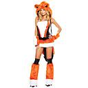 tanie Systemy CCTV-Fox Girl Wilk Kobiet Kostium Dla dorosłych Damskie Halloween Święta Święta Halloween Karnawał Festiwal/Święto Terylen Poliester Czarny / Pomarańczowy Kostiumy karnawałowe Zwierzę