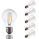 abordables Lampes à Filament LED-6 pcs gmy a17 led edison ampoule 3.5w led équivalent à ampoule à incandescence 32w avec e26 base 2700k pour chambre salon maison décoratif