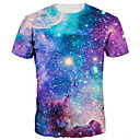 cheap HDMI Cables-Men's Basic / Exaggerated T-shirt - Galaxy / 3D Print Round Neck / Short Sleeve / Summer
