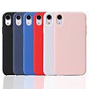 cheap iPhone Cases-Case For Apple iPhone XR / iPhone XS Max Frosted Back Cover Solid Colored Soft Silicone for iPhone XS / iPhone XR / iPhone XS Max