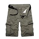 baratos Camisetas & Regatas Masculinas-Homens Básico / Militar Diário Solto Shorts Calças - Sólido Verde Tropa Khaki Cinza Claro 36 38 37