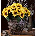 رخيصةأون أزهار اصطناعية-زهور اصطناعية 6 فرع كلاسيكي زهري النمط الرعوي عباد الشمس أزهار الطاولة