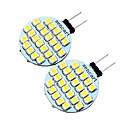 זול כלים לפירות וירקות-2pcs 2 W נורות שני פינים לד 200 lm G4 T 24 LED חרוזים SMD 3528 דקורטיבי לבן חם לבן קר 12 V / שני חלקים / RoHs