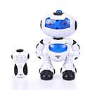 ieftine Alte RC-RC Robot Lumini LED ABS rășină Automat / 360 rotitoare / LED-urile luminează intermitent Nu